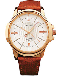 cheap -YAZOLE® Men's Quartz Casual Fashion New Watch Business Leather Belt Round Alloy Dial Watch Cool Watch Unique Watch