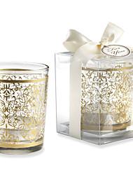 Bridesmaids / Bachelorette - Recipient Gifts - Gold Glass Tealight Holder Wedding décor, Candle Holder Wedding Favors