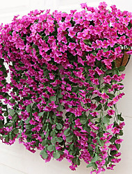 cheap -2 Bouquet(18 Heads) Hanging Violet Flower Rattan Artificial Flower