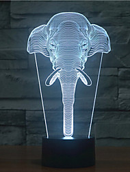 Elephant Touch Dimming 3D LED Night Light 7Colorful Decoration Atmosphere Lamp Novelty Lighting Light