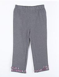 preiswerte -Mädchen Hose-Lässig/Alltäglich einfarbig Baumwolle Herbst Grau