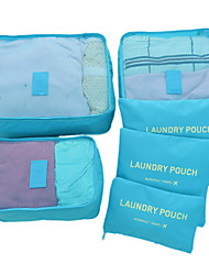 cheap -Textile Plastic Oval Novelty Multi-functional Home Organization, Six-piece Suit Storage Bags