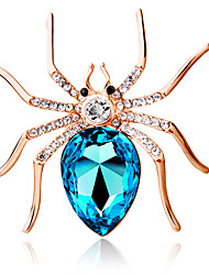 cheap -Women's Brooches Personalized Fashion Crystal Dark Blue Purple Light Blue Jewelry For Party Daily Casual