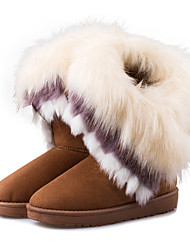 cheap -Women's Boots Fall / Winter Snow Boots Leatherette Outdoor / Casual Flat Heel   Pink Snow Boots