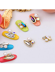 cheap -5pcs nail art melon seeds alloy act the role ofing is tasted long water droplets dazzle colour nail art all posted