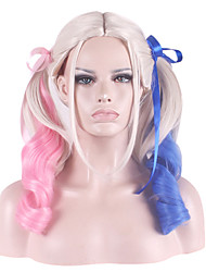 cheap -Women Synthetic Wig Wavy Blonde Costume Wig Halloween Wig Carnival Wig Costume Wig
