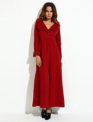 cheap -Women's Fashion Casual Long Sleeve Trench Coat