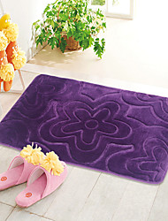 "cheap -Casual Style 1PC Polyester Bath Rug 15"" by 23"" Floral Pattern"