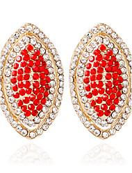 cheap -1pair/Red/Blue/Black/White/pink Stud Earrings forWomen Elegant Style