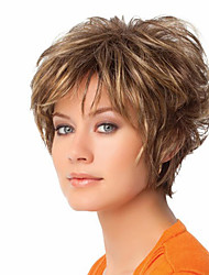 cheap -Women Synthetic Wig Capless Natural Wave Blonde Costume Wigs Costume Wigs