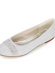 preiswerte -Damen-Flache Schuhe-Hochzeit Büro Kleid Party & Festivität-Glanz-Flacher AbsatzSchwarz Blau Braun Rot Silber Gold