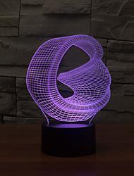 abstrait tactile gradation 3d conduit de lumière de nuit lampe atmosphère décoration 7colorful éclairage nouveauté lumière de Noël