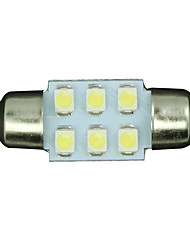 cheap -10pcs White 31mm 6-SMD Festoon Dome Map Interior LED Light Lamp DE3175 3022