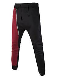 abordables -Hombre Activo Algodón Ajustado Delgado Pantalones de Deporte Pantalones Estampado
