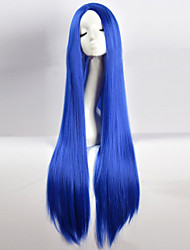 cheap -cos wig blue in long straight hair wigs 100cm long wigs Halloween