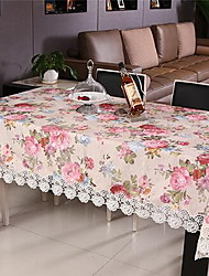 cheap -Peony Embroidery Cover Round Tea Table Cloth  (100 * 150 cm)