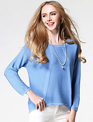 cheap -Women's Cute Street chic Pullover - Solid Colored