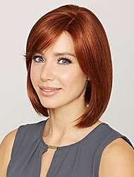 cheap -Women Synthetic Wig Short Straight Auburn Capless Wig Halloween Wig Carnival Wig Costume Wig