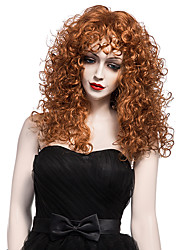 cheap -New Fashion Brown Short Wig European and American Curly Wig Women Short Synthetic Wig