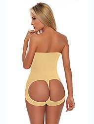 mulheres treinador cintura óssea aço super stretch corpo quente shaper da cintura cincher contro calças underwear / sexy carry nádega