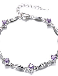 moda 925 con incrustaciones de plata pulsera cz regalos de navidad estilo elegante