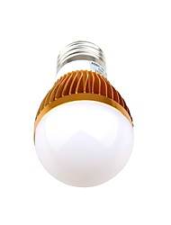 3 E26/E27 LED kulaté žárovky A60(A19) 3 High Power LED 270 lm Teplá bílá / Přirozená bílá Ozdobné AC 85-265 V 1 ks