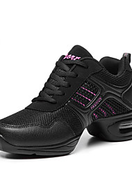 cheap -Women's Dance Sneakers Modern Fabric Leatherette Boots Sneaker Outdoor Practice Flat Heel Pink Golden Non Customizable