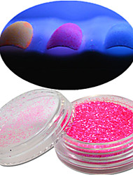 cheap -1 Bottle Nail Art Beautiful Noctilucent Powder Colorful Color Glitter Shining Nail Beauty Decoration YG12