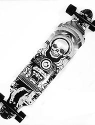 billiga -41 Inch Long skateboarden Lönn ABEC-9 Dödskalle Professionell Svart med Vitt / Orange / Svart / Grå Svart