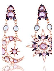 Feminino Para Meninas Moda Vintage Estilo simples Europeu Pedras preciosas sintéticas Cristal Strass Chapeado Dourado Liga Estrela Forma