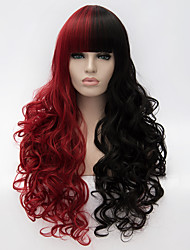 cheap -Costume Wigs / Synthetic Wig Red Women's Capless Carnival Wig / Halloween Wig / Capless Wig Very Long Synthetic Hair