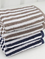 "1PC Full Cotton Hand Towel 13"" by 29"" Stripe Pattern Super Soft"