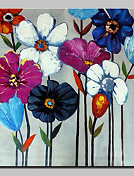 cheap -Hand Painted Flowers Oil Paintings On Canvas Modern Wall Art Picture With Stretched Frame Ready To Hang