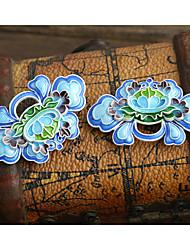 jóias diy estilo flor azul charme de cobre