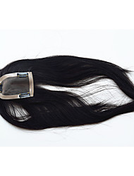 cheap -Remy Human Hair Toupees Straight Full Lace