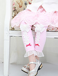 Pantaloni / Leggings Girl Casual Collage Cotone Primavera / Autunno Rosa