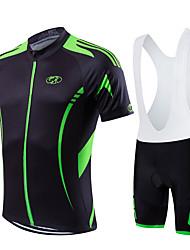 cheap -Fastcute Cycling Jersey with Bib Shorts Men's Women's Kid's Unisex Short Sleeves Bike Bib Shorts Sweatshirt Jersey Bib Tights Clothing