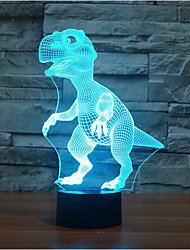 Dinosaur Touch Dimming 3D LED Night Light 7Colorful Decoration Atmosphere Lamp Novelty Lighting Light