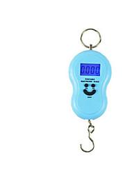 bilancia elettronica portatile (versione inglese, blu, scala massima: 40kg)