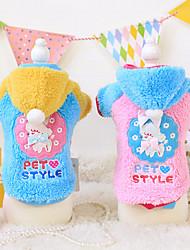 abordables -Perro Saco y Capucha Ropa para Perro Caricatura Azul / Rosa Algodón Disfraz Para mascotas Hombre / Mujer Moda