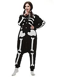 preiswerte -Kigurumi Pyjamas Gymnastikanzug/Einteiler Fest/Feiertage Tiernachtwäsche Halloween Schwarz Geometrisch Kigurumi Für Unisex Halloween