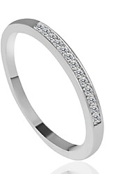 cheap -Ring Fashion Wedding / Party / Daily / Casual Jewelry Alloy Women Band Rings 1pc,6 / 7 / 8 / 9 Silver