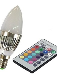 E14 LED Smart Bulbs C35 1 High Power LED 100-230 lm RGB 2000-5000 K Remote-Controlled AC 85-265 V