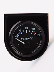 """2 """"52 milímetros 12v medidor de temperatura ponteiro carro universal temperatura da água 40-120 branco LED"""