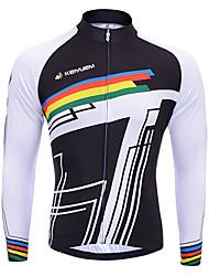 economico -KEIYUEM Maglia da ciclismo Per uomo Per donna Unisex Manica lunga Bicicletta Top Ompermeabile Asciugatura rapida Design anatomico
