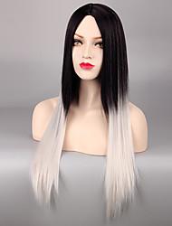 economico -Donna Parrucche sintetiche Senza tappo Lisci Bianco Capelli schiariti Parrucca di Halloween Parrucca di carnevale Parrucca Cosplay