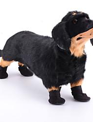 Недорогие -Собака Ботинки и сапоги Для домашних животных Нейлон Черный