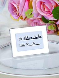 Bridesmaids / Bachelorette Wedding décor mini Photo Frame Table Place card holder / Rustic / Silver