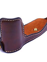 economico -pelle dengpin® pu metà macchina fotografica di base copertura della cassa del sacchetto per Olympus Pen-f penf (colori assortiti)