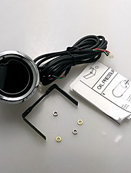 "abordables -2 ""7 colores LED azul rojo del voltaje del coche auto meter voltios digital de calibre 52 mm tinte len"